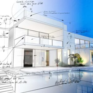 3D blueprint of new home designed by home design software