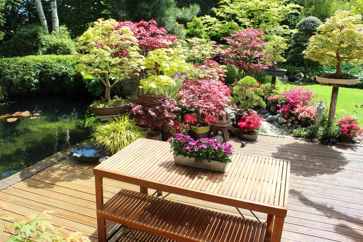 Deck with planter garden