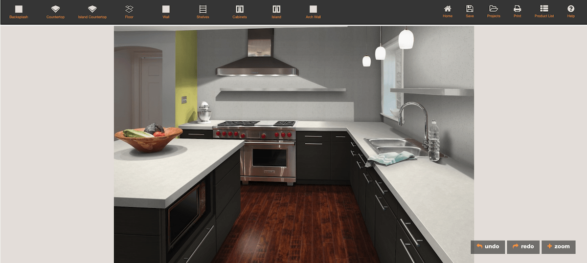 Formica design a room kitchen software