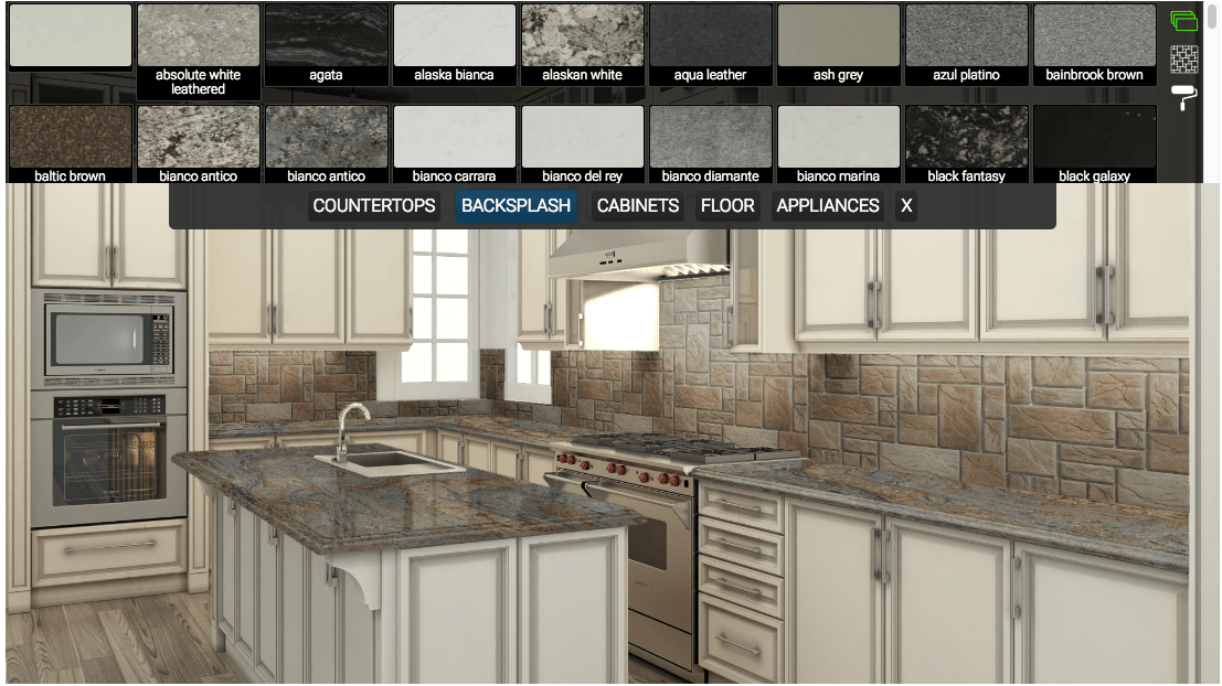 Southern Stone Surfaces kitchen visualizer software