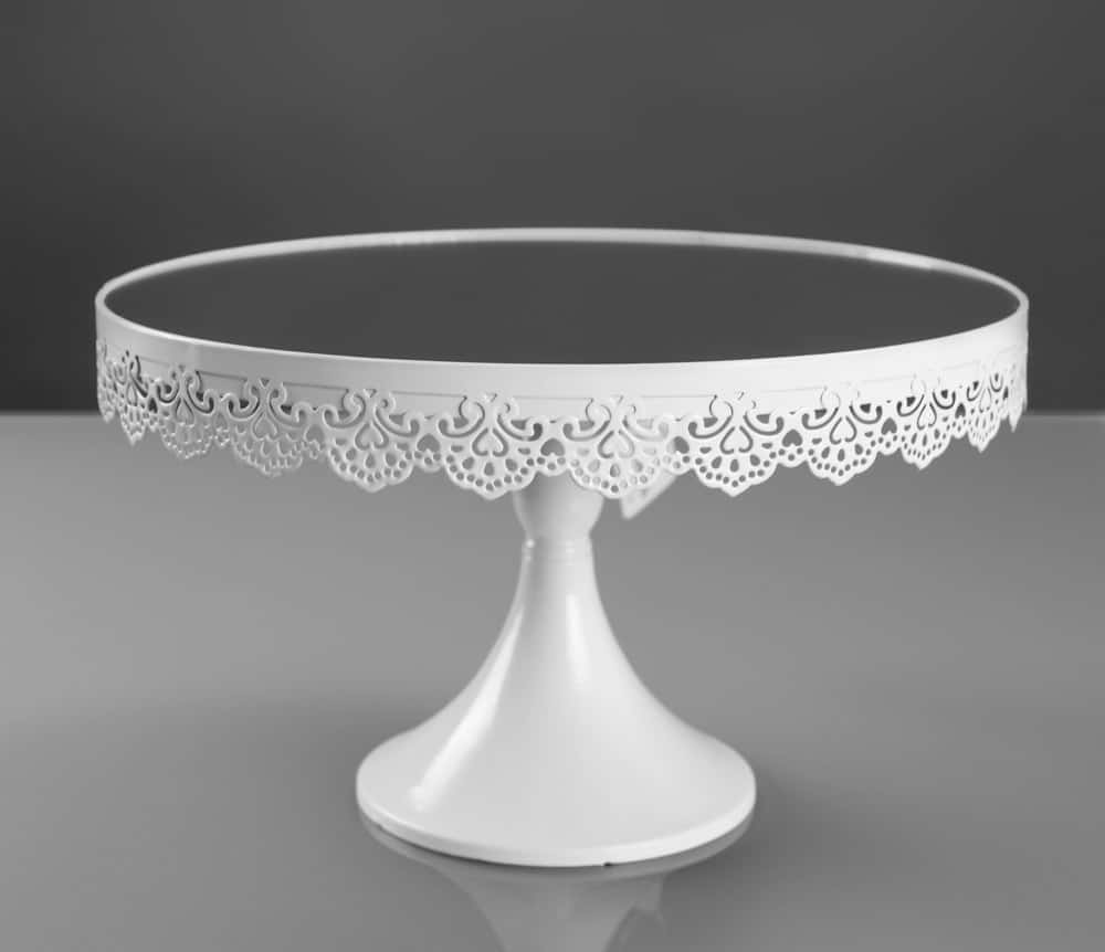 Elegant looking white cake stand.