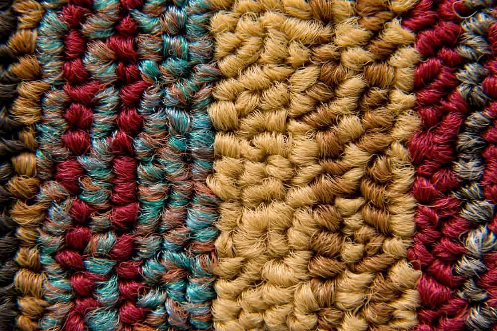 Stylish textured colorful carpet.