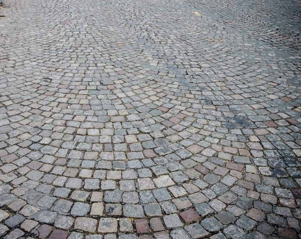 Variety Of Paver Stones Gray cobblestone driveway