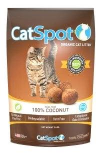 CatSpot organic cat litter made of 100% coconut.