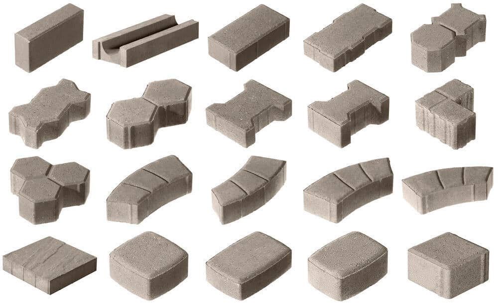 Paver shapes chart