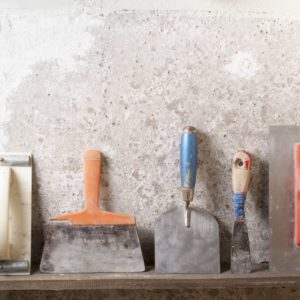This is a group of tools that is used for cement application purposes.
