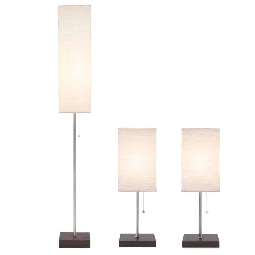 Contemporary lamp set perfect for bedrooms.