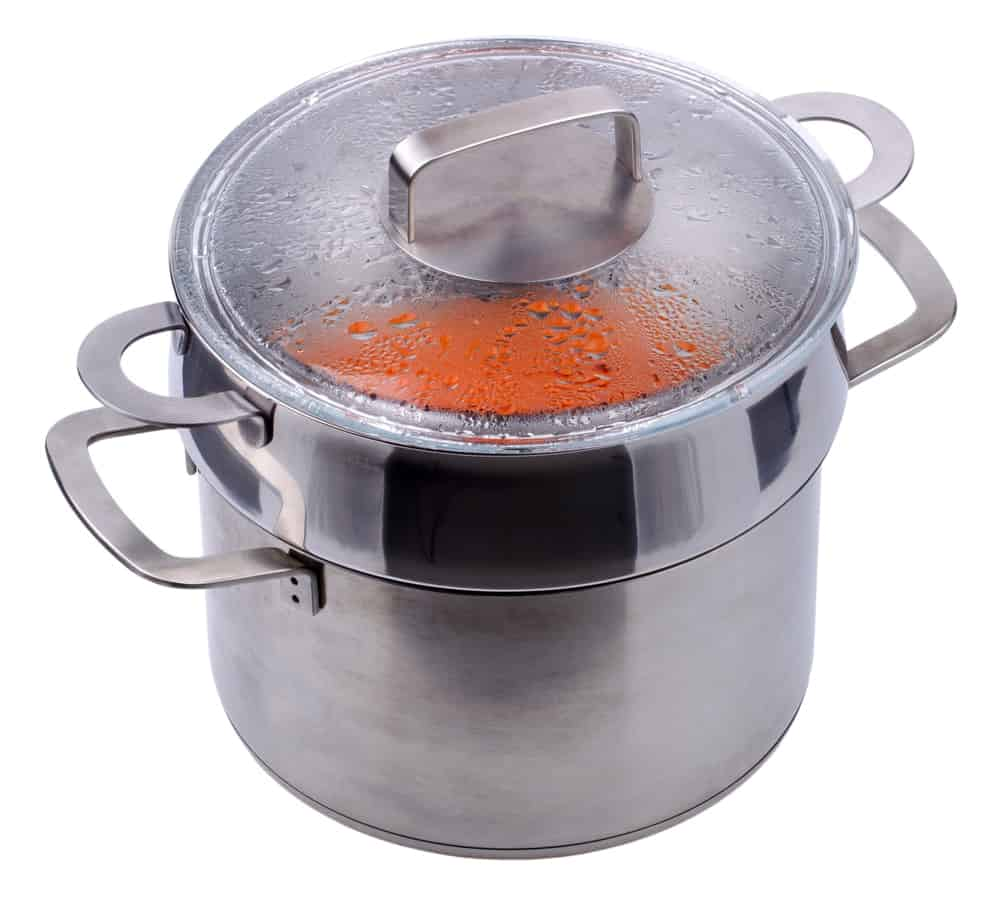 Stainless steel double boiler.