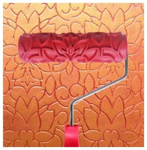 Embossed type paint roller.