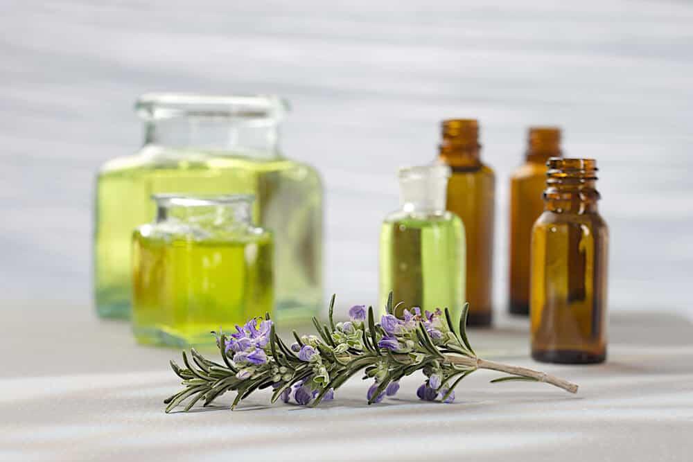 A few bottles of essential oils.