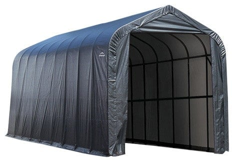 Fabric storage shed.