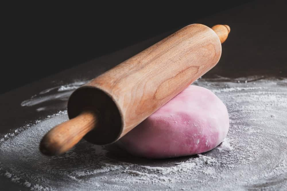 Wooden fondant rolling pins.