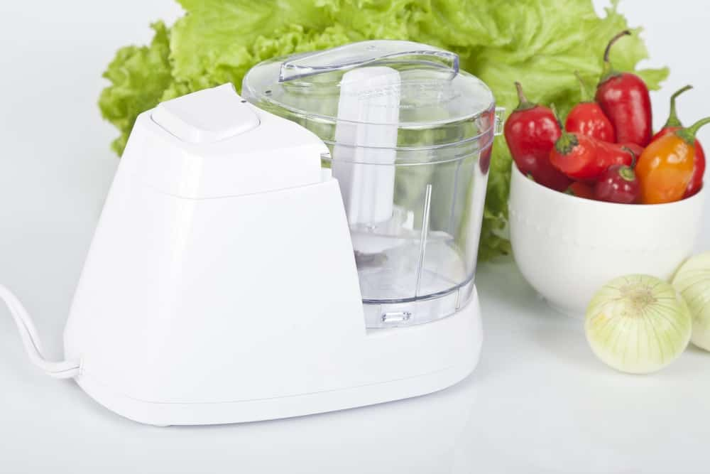 Food processor in white color.
