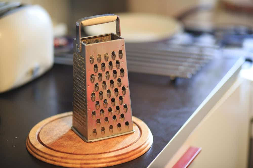 Classic stainless steel grater.