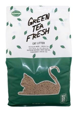 Green tea fresh cat litter.