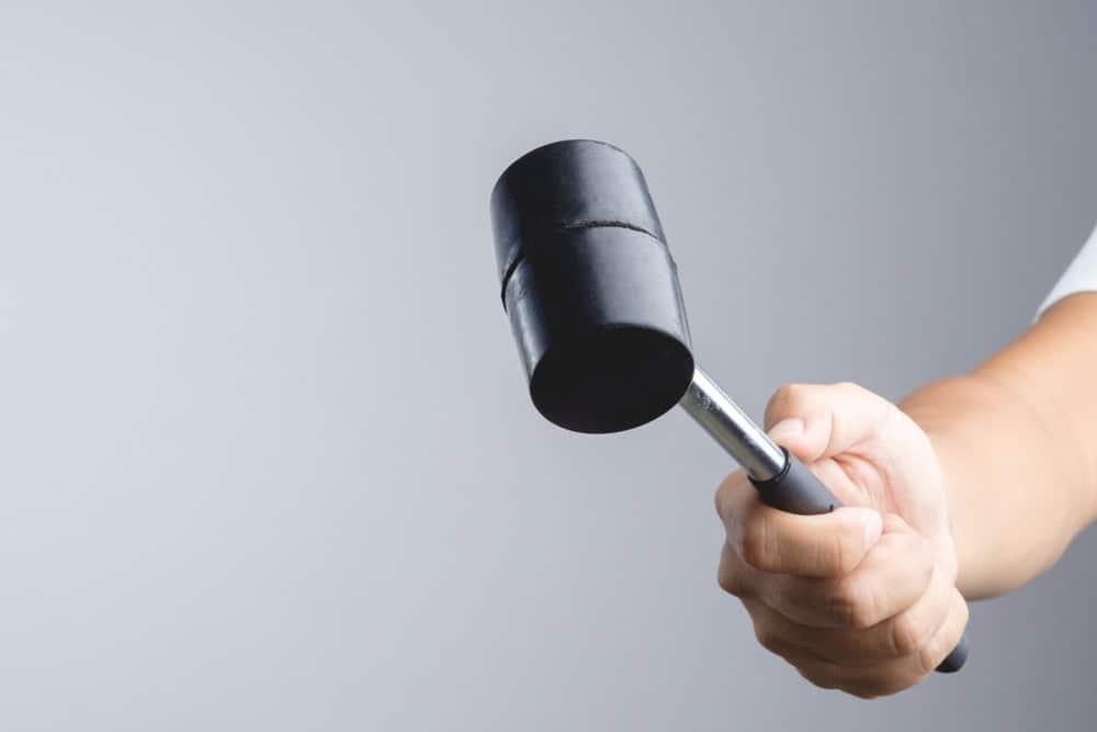 Black head mallet-style hammer.