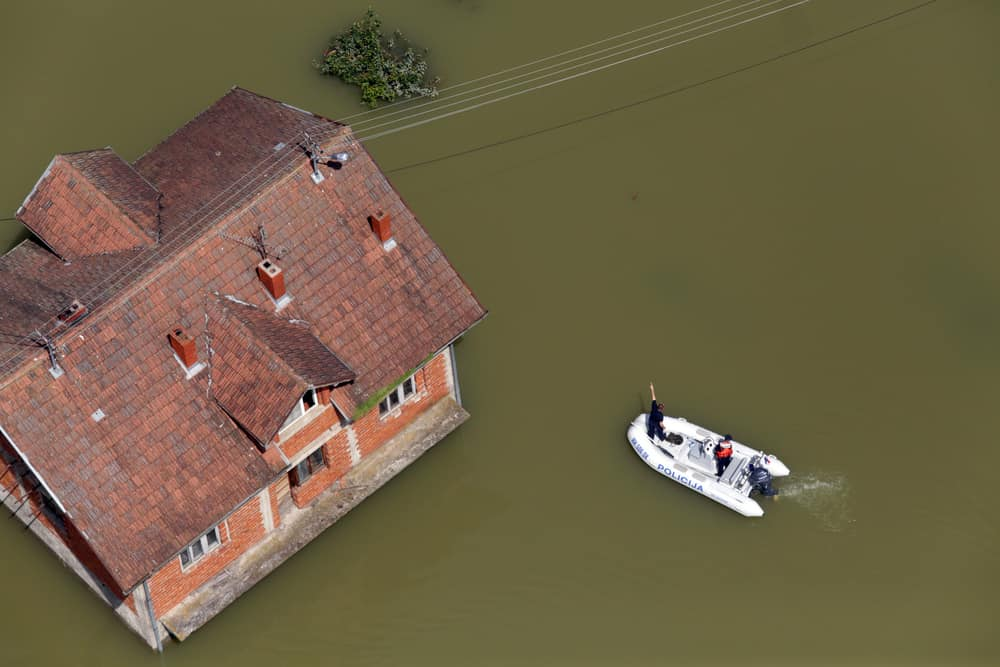 House badly flooded