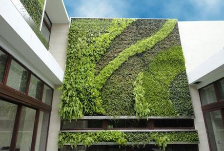 House with a living wall exterior
