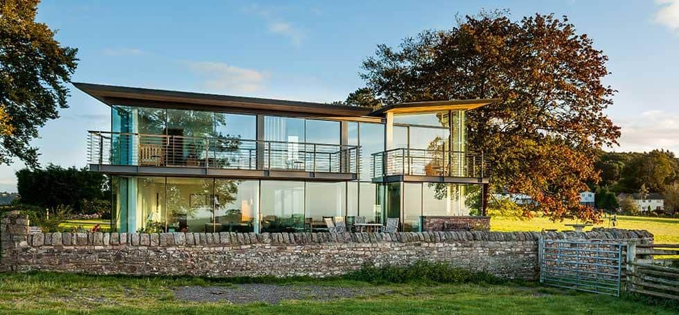 House with lots of glass for natural light