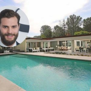 Jamie Dornan selling his mid-century stunner home in Hollywood Hills for $3.195M.