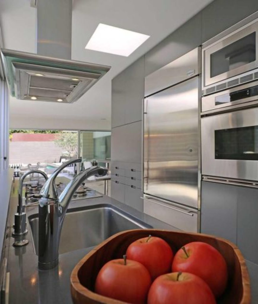Another view of the home's kitchen boasting its top-of-the-line appliances.