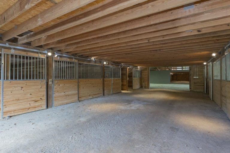 There's a horse stable in the property as well.
