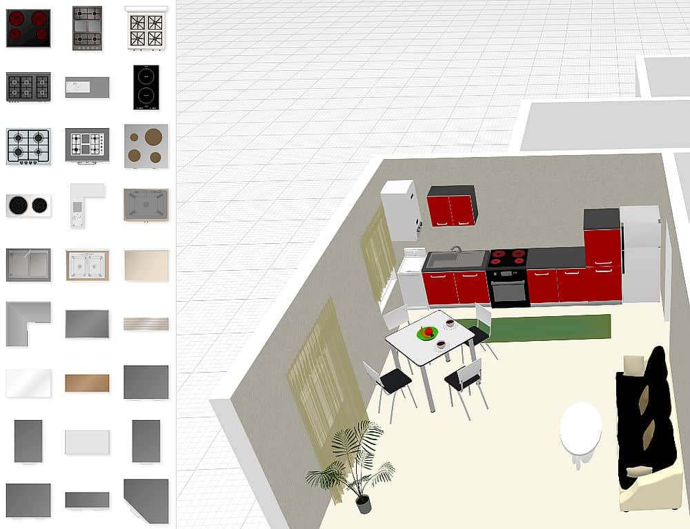 Kitchen design example from PlanningWiz software