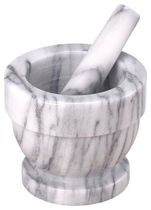 Mortar and pestle combo.