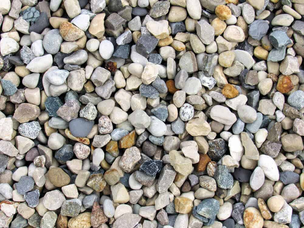 A bunch of pea gravel with different shades.