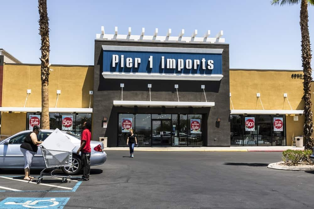 Pier 1 Imports retail strip mall location in Las Vegas.