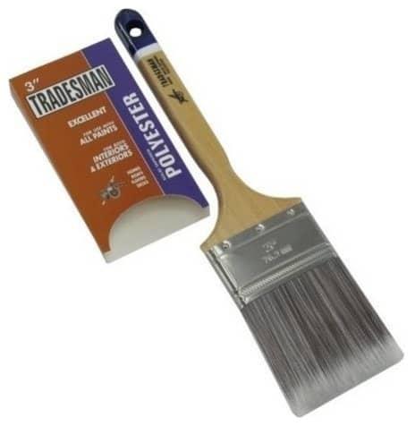 Polyester bristle type paint brush.