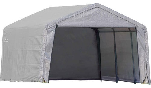 Tent-type portable shed.