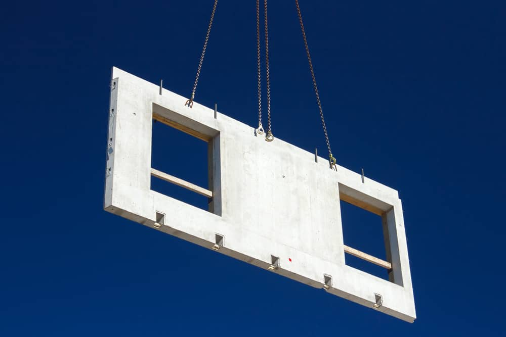 Precast concrete panel for house construction