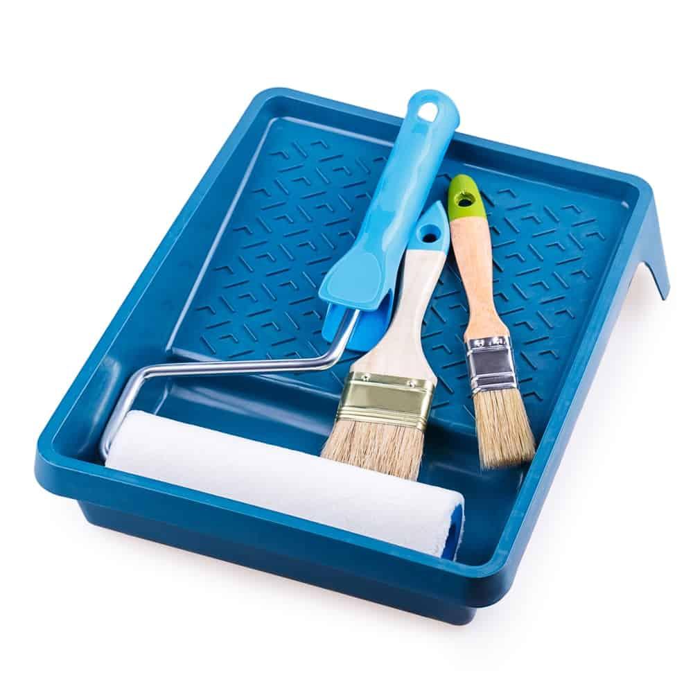 Blue regular paint tray.