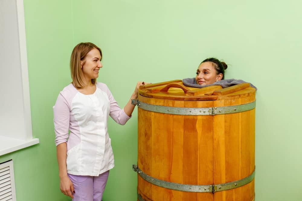 Single person sauna barrel
