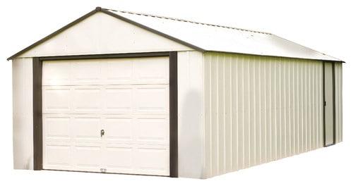 Steel storage, white.
