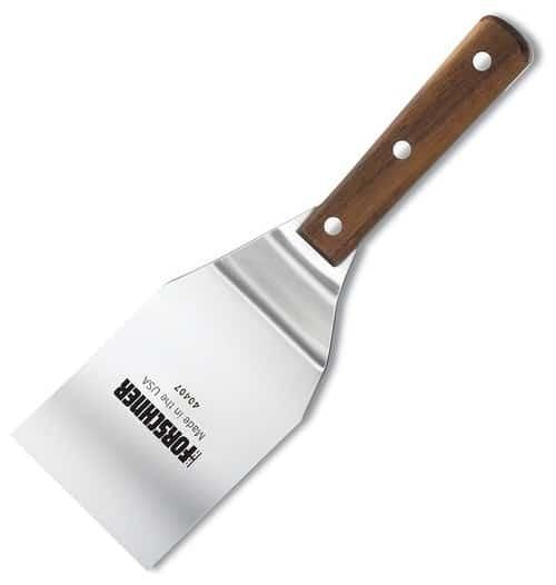 Heavy-duty stiff spatula.