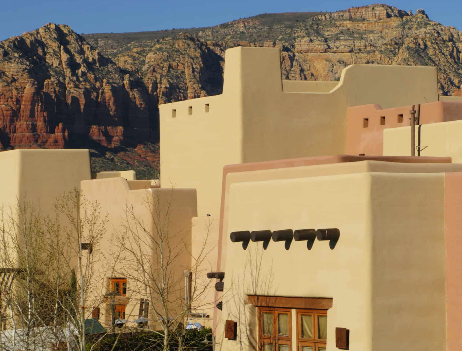 Adobe structure in Sedona Arizona.