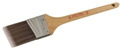 Thin angle sash paint brush.