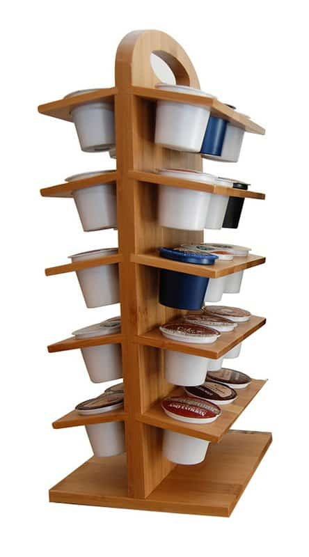 Bamboo K-cup storage