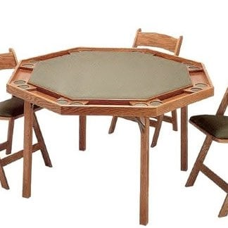 Octagonal card game table