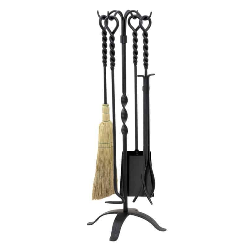 Wrought iron fireplace tool