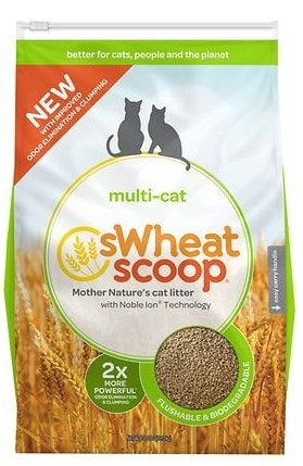 sWheat Scoop cat litter made of wheat.