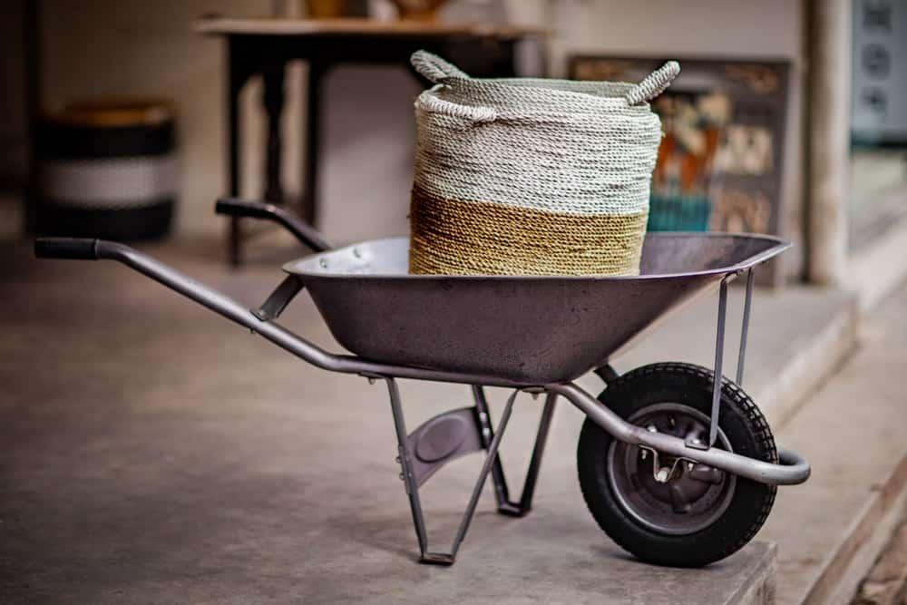 New-looking wheelbarrow.