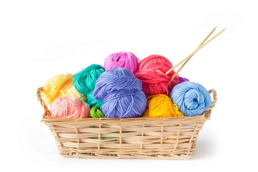 Yarns in different colors.
