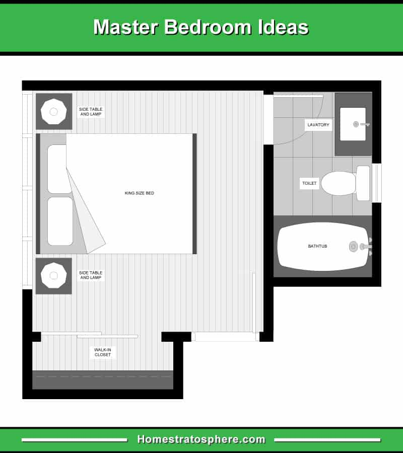 13 Master Bedroom Floor Plans (Computer Drawings