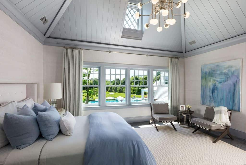 Another guest bedroom with view of the pool.