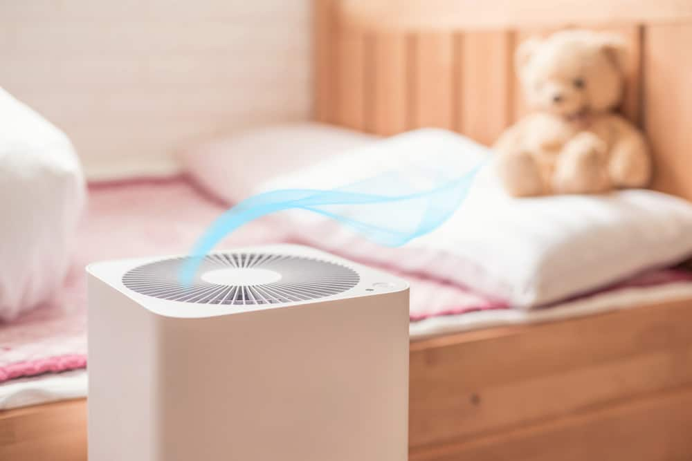 Air purifier in the bedroom