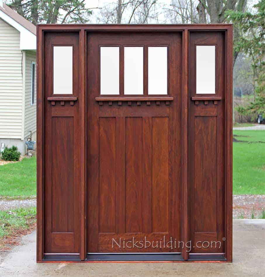 Craftsman wood front door