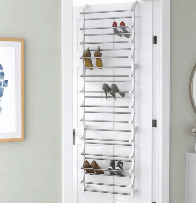Hanging over the door shoe rack